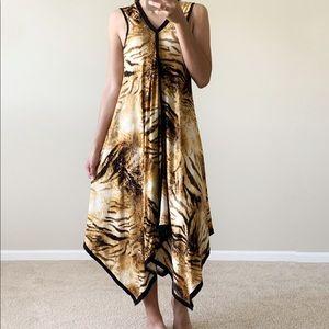 Nicole Max Animal Print Tunic Dress S